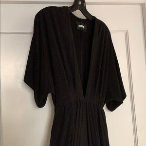 Reformation Dresses - Reformation black jersey low v dress